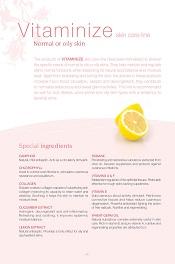 VITAMINIZE skin care line