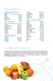 Special ingredients Nutritive supplement