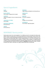 Special ingredients Dental and gum care